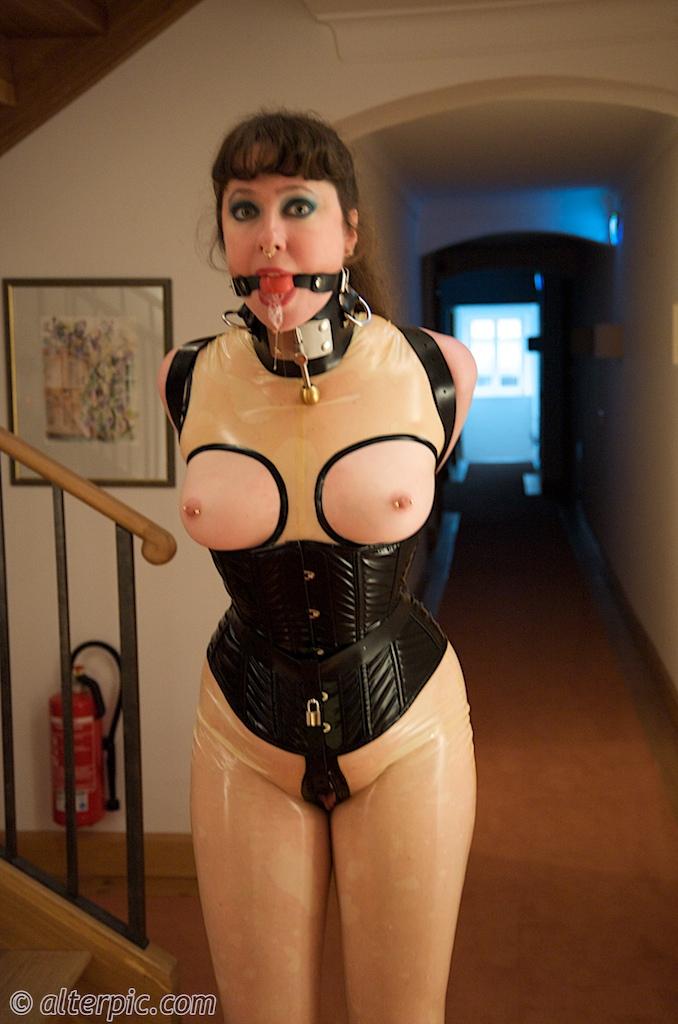 in bondage Woman tight